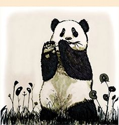 ¿Cuántos osos panda ves?