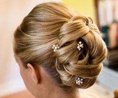 Bridal hair accessory Wedding hair pins by DarlasBlooms on Etsy