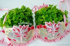 Flavonoids like apigenin and luteolin found in parsley act as antioxidants to protect cells from oxidative damage and stress.