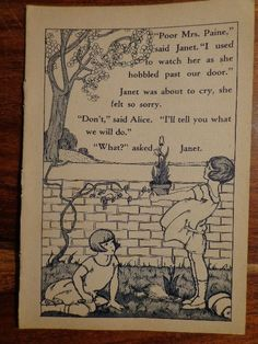 Orig 1930s Children's Bookplate Illustration Girls Gardening, MORE ...