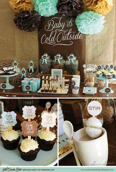 COCOA caliente BAR Printables Cupcake por SweetScarletDesigns