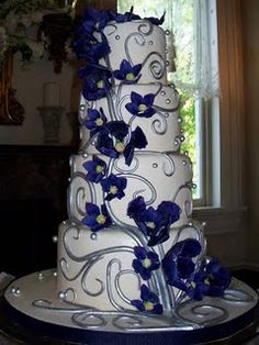 Purple and Silver cake