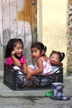 Kids in a Crate, Oaxaca, Mexico