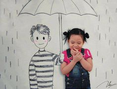 Very cute photo idea for childrenʻs fair or for a book review (draw a character from a book then take pictures with him/her)  Great way to spark a childʻs interest in reading!