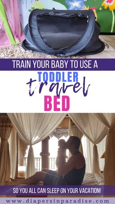 Want to sleep during your next trip with a baby or toddler? You need a toddler travel bed! Here is why, and how to prepare your child to use it effectively. A look at the different types of portable travel beds, and a step-by-step guide to training your young toddler to sleep in a travel crib. #familytravel #babysleep Portable Toddler Bed, Toddler Travel Bed, Baby Travel Bed, Travel Cot, Travel Tips, Travel Packing, Travel Advice, Traveling With Baby, Travel With Kids