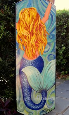 Original painting of Mermaid on wood, life size, blonde. By artist - Debbie Criswell keywords - merm Mermaid Canvas, Mermaid Wall Art, Mermaid Drawings, Art Drawings, Mermaid Paintings, Acrylic Painting Canvas, Diy Painting, Canvas Art, Mermaids On Wood