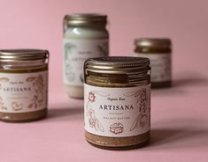 This was a passion project that fed my love for typography and attention to detail. Walnut Butter, Passion Project, Packaging, Food, Essen, Meals, Wrapping, Yemek, Eten
