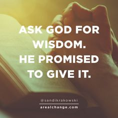 """""""If any of you lacks wisdom, you should ask God, who gives generously to all without finding fault, and it will be given to you.""""  ~James 1:5"""