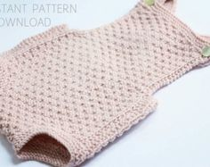Baby romper Knitting pattern Mia download pdf baby di Dreamiknit