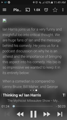 Ian Harris joins us for a very funny and insightful loo into critical thought. We are huge fans of Ian and the message behind his comedy. He joins us for a podcast discussion on why he is an atheist and the importance of bringing this aspect into his comedy. His bio is so impressive we wanted to keep it in its entirety below:   When a comedian is compared to Lenny Bruce, Bill Maher, and George Carlin, it means he has something that