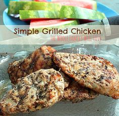 This grilled chicken recipe is perfect for the beginner, and the whole family will love it!