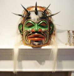 Northwest Coast Native Art Huge  SHAMAN AND HIS HELPERS MASK SCULPTURE
