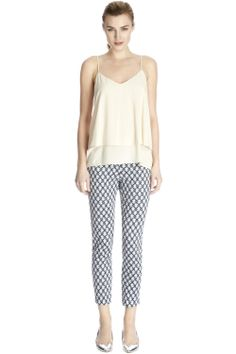 FLORAL GEO PRINT TROUSERS