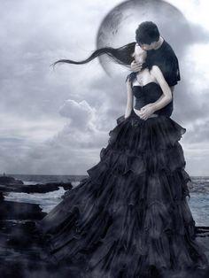 Bacio by Flore-stock on DeviantArt Gothic Fantasy Art, Fantasy Love, Gothic 4, Dark Beauty, Gothic Beauty, Gothic Artwork, Dark Love, Vampire Art, Goth Art
