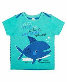 Boys Blue Whale Graphic T-shirt - Mini Club
