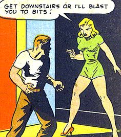 """""""Sally the Sleuth"""" in Crime Smashers #12"""