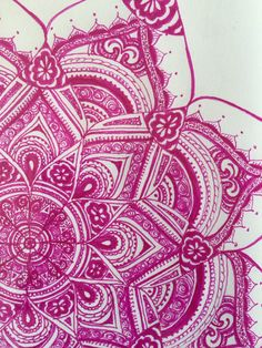 A personal favorite from my Etsy shop https://www.etsy.com/listing/230326858/pink-mandala-original-ink-drawing-framed