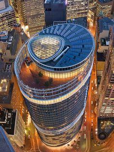 Future Buildings, Unique Buildings, Interesting Buildings, Amazing Buildings, Futuristic Architecture, Contemporary Architecture, Architecture Details, Photographie New York, Building Design