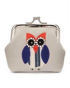 Teens Navy and Orange Owl Stitch Coin Purse, New Look. Can't pass this one up for only £2.99  #purse