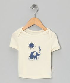 Look what I found on #zulily! Silkberry Baby Natural & Twilight Elephant Organic Tee - Infant & Toddler by Silkberry Baby #zulilyfinds