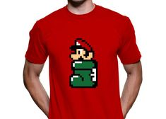 Playeras Gamer Geek: Playera Mario Bros Bota Pixel - Kichink!