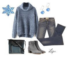 """""""Blue snowflake"""" by coolmommy44 ❤ liked on Polyvore featuring Elizabeth and James, Gianvito Rossi and Diesel"""