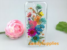 Real pressed flowers iphone 6 case natural daisy by LandySupplies -- boo boo! i saw this and thought about you! its for our iphone6