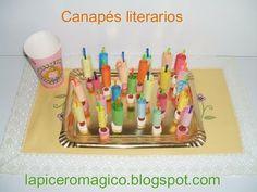 LAPICERO MÁGICO: Animación a la Lectura: Canapés literarios Conte, Book Crafts, Art School, Ideas Para, Teaching, Writing, How To Plan, Books, Buenas Ideas