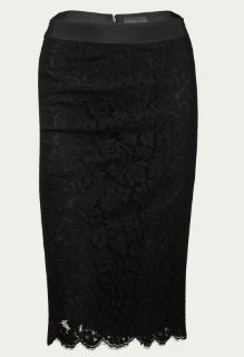 [lace pencil skirt]  Great for work but still sexy enough for happy hour