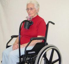 Flexible/Adjustable beverage holder and flexible adjustable straw. Mounts on wheelchair.