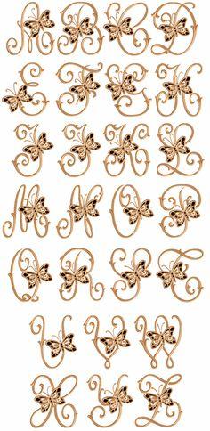Butterflies Cutwork Font