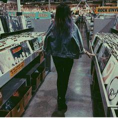 vinyl ~ grunge ~ black denim