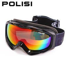 polarized ski goggles jmtd  POLISI Professional Ski Goggles Polarized Double Layer Lens Anti-Fog Big  Spherical Skiing Glasses Men