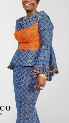 Plain and pattern combo 4 African Attire, African Wear, African Women, African Dress, Latest African Fashion Dresses, African Print Fashion, Africa Fashion, Nigerian Dress Styles, Ankara Gown Styles