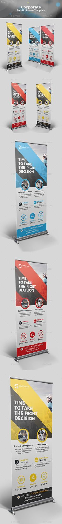 Fitness/Gym Roll-Up Template | Ai illustrator, Template and Banner ...