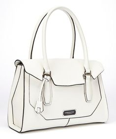 Another great find on #zulily! White Avery Tote by London Fog #zulilyfinds