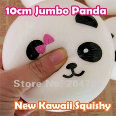Free Shipping! New 10cm Jumbo Kawaii Squishy Panda Dim Sum Bun, Squishies Cell Phone Straps, Squishy Bag Charm Gift, 80719 on AliExpress.com. $3.80