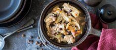 Perinteinen karjalanpaisti on helpoista helpoin ruoka valmistaa. Sen kypsennyksessä ei kuitenkaan kannata kiirehtiä, koska lihapalat mureutuvat pitkään haudutettaessa. Noin 1,75€/annos. Frugal Meals, Frugal Recipes, Cauliflower, Chicken, Meat, Vegetables, Food, Cauliflowers, Simple Meals