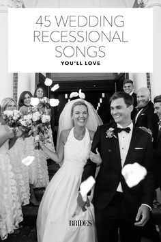 Get some inspiration for choosing your wedding recessional music—from classic tunes to modern hits, check out this list of 75 wedding recessional songs Wedding Ceremony Exit Songs, Wedding Recessional Songs, Best Wedding Songs, Wedding Reception Music, Wedding Exits, Wedding Playlist, Wedding Things, Wedding Venues, Dream Wedding
