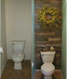 Reforma de banheiro usando madeira de descarte...