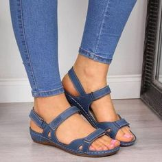 Item Heel Height Type:Flat Heel Upper Material:Artificial Leather Sandals Style:Flip Flop Shoes Style:Slip-On Heel Height:Flat Heel Type:Flat Heel Occasion:Casual Toe Type:Open Toe G. Blue Sandals, Open Toe Sandals, Wedge Sandals, Leather Sandals, Shoes Sandals, Women Sandals, Summer Sandals, Gladiator Sandals, Trendy Sandals