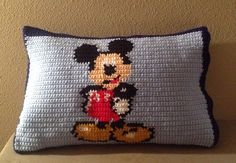 Mickey Mouse crochet pillow case