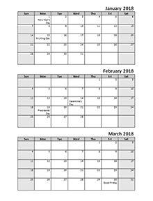 Quarterly Calendar Pdf  Get It Together