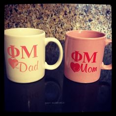 Phi Mu coffee mugs-- I need this for my org for my mom. lol