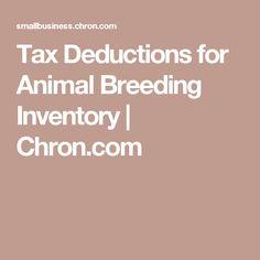 Tax Deductions for Animal Breeding Inventory | Chron.com
