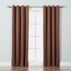 Andover Mills Gainer Basic Solid Blackout Thermal Grommet Curtain Panels Color: Chocolate, Size per Panel: W x L Kids Curtains, Cool Curtains, Curtains For Sale, Colorful Curtains, Grommet Curtains, Blackout Curtains, Panel Curtains, Curtain Panels, Corner Curtains