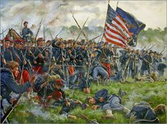 """""""Now Is The Pinch"""" The Battle of Antietam, Maryland, September 17, 1862. By Mark Maritato. At dawn on the morning of September 17th 1862 the battle of Antietam raged as units of Brigadier General John Gibbon's western Iron Brigade, made up of Wisconsin and Indiana Regiments emerged from the southern border of David R. Miller's cornfield only to be met by a blistering volley of musketry from a heavy line of Confederate Infantry. As the Iron Brigade became engaged in a heavy firefight a…"""