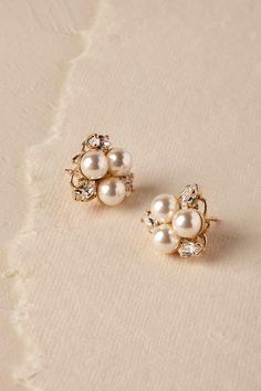 Pax Pearl Stud Earrings from @BHLDN