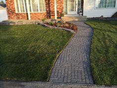 New sidewalk & gardens My Portfolio, Sidewalk, Gardens, Walkway, Garden, Garden Types, Walkways, Tuin, House Gardens