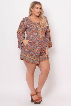 f4f4a9b71a7  curvysense  romper  shop  print  spring  fashion  shorts  plus